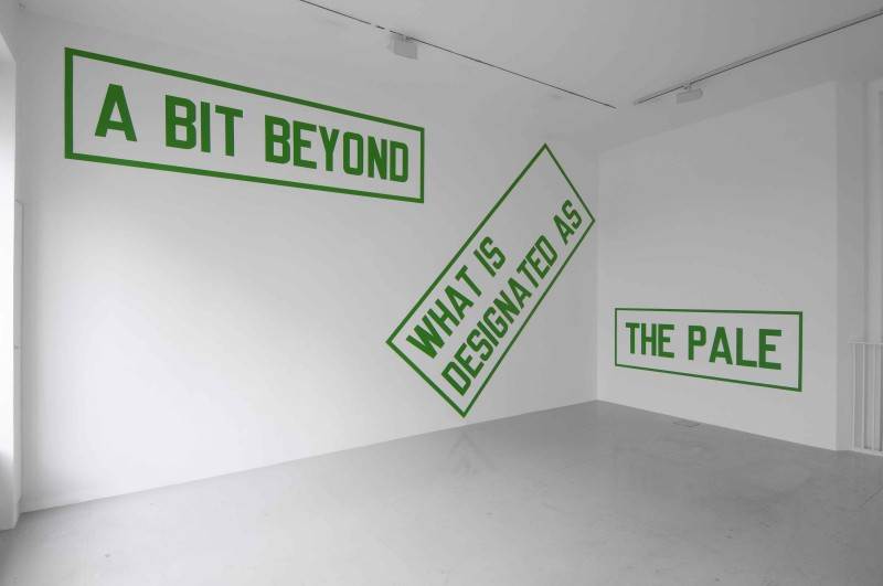 Lawrence_Weiner_Lisson_Gallery_A_BIT_BEYOND_WHAT_IS_DESIGNATED_AS_THE_PALE